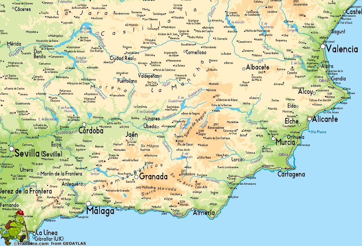 Juzno Od Spanije Mapu Mapa Je Iz Spanije Juzno Juznoj Europi