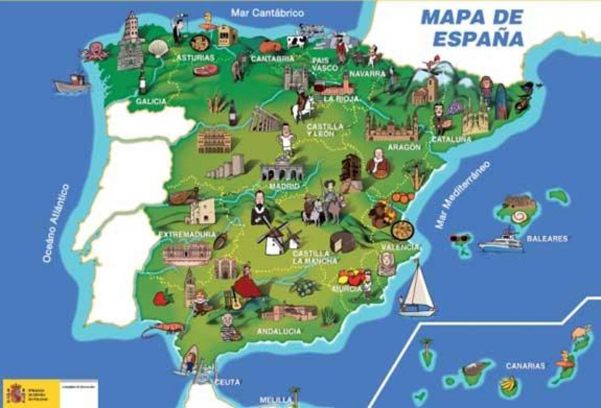 mapa spanije Španija spomenika mapu   Mapa je iz Španije spomenika (Južnoj  mapa spanije